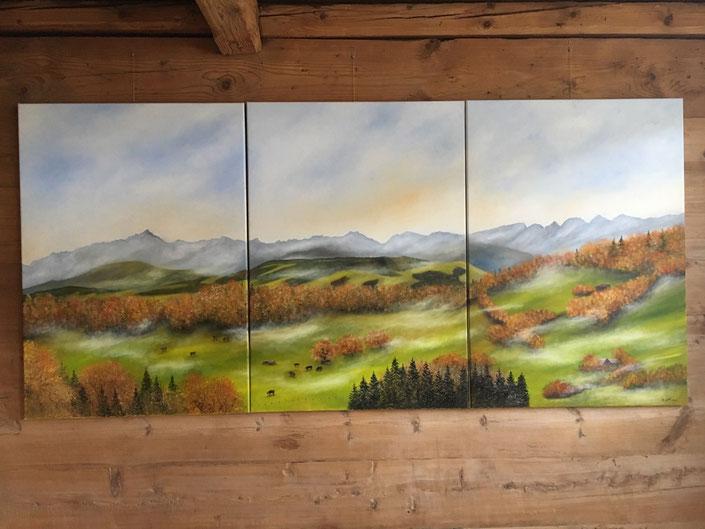 Säntis Säntismassiv Alpstein Alpsteingebirge Alpsteinmassiv Churfirsten Bergtriptychon Triptychon