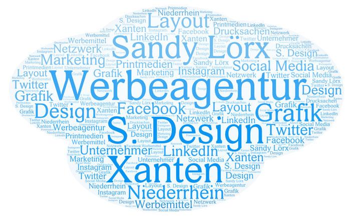 Sandy Lörx S. Design, Werbeagentur Xanten Niederrhein, Layout, Druck, Design, Grafik, Social Media, Facebook, Instagram, LinkedIn, Twitter, Unternehmer