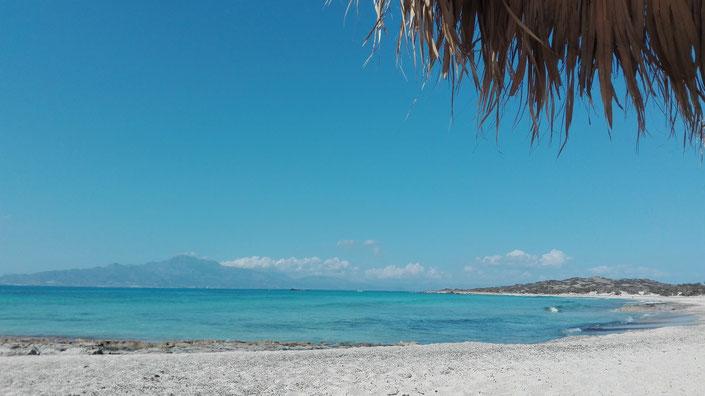Paradiesischer Strand , Golden Beach Insel Chrissi Kreta