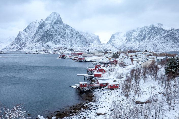 Reine Lofoten Winter Schnee