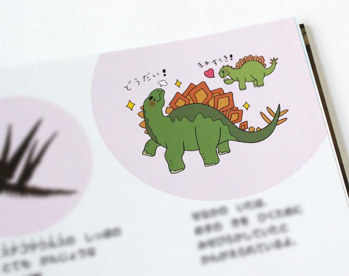 きょうりゅうのひみつクイズ、ステゴザウルスの挿絵