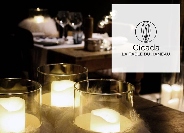 Menus de fêtes de fin d'année à Cicada, la Table du Hameau des Baux