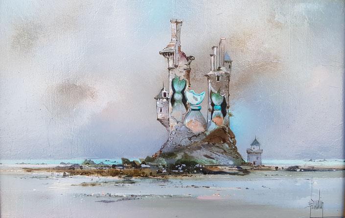 Bernard LOUEDIN, peinture, surréaliste, peintre surréaliste français, exposition, Lausanne, galerie, plateforme 10, tableaux, paysages suréalistes acrylique