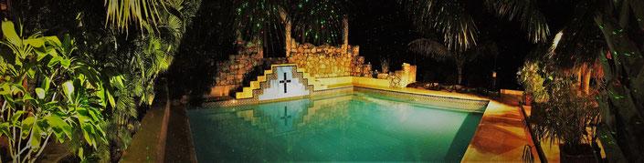 Mayan pool Hacienda Santo Domingo