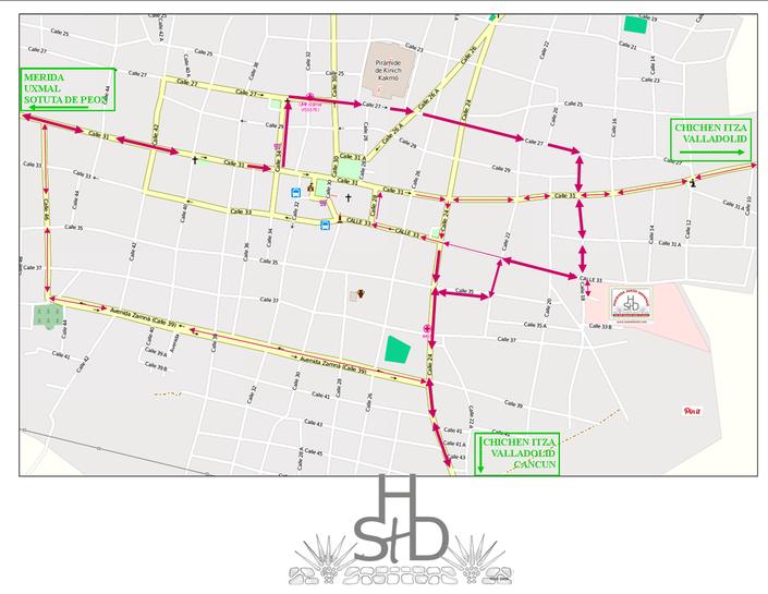Stadtplan von Izamal