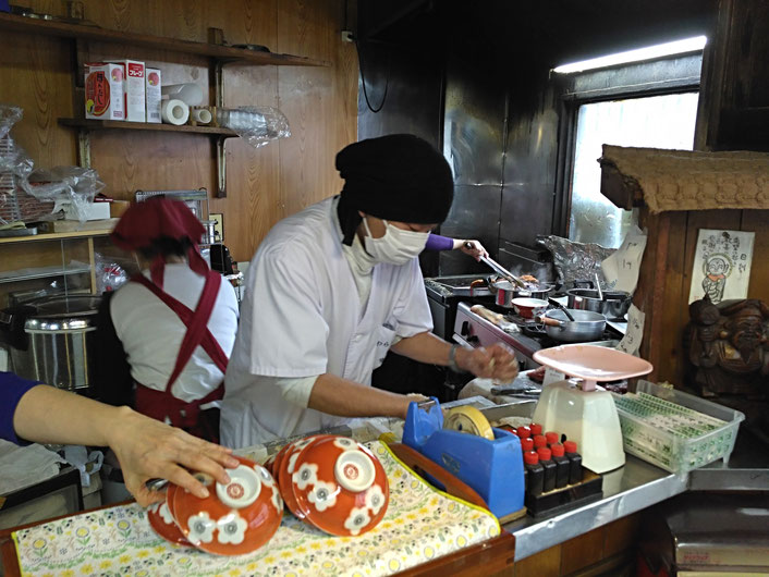 The guy hammers the pork so well that it gets very tender!  All rights reserved by onegai kaeru