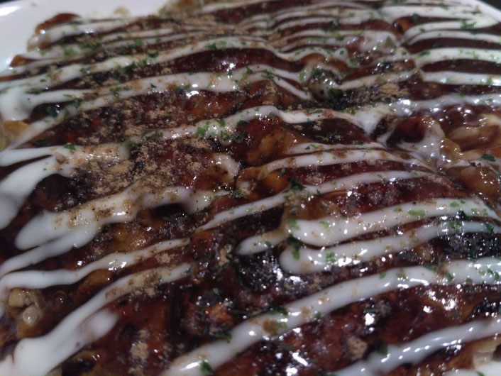 You need to ask for vegan okonomiyaki. No mayo for you! all rights reserved by onegai kaeru