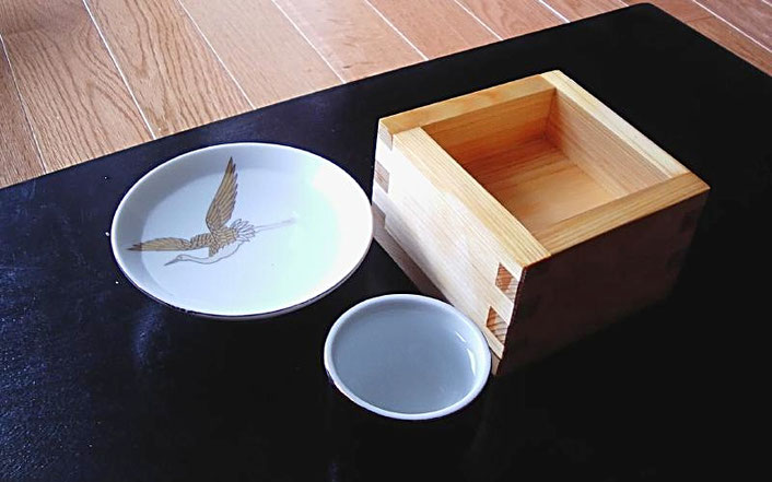 Sake with Masu cup Source: wikipedia