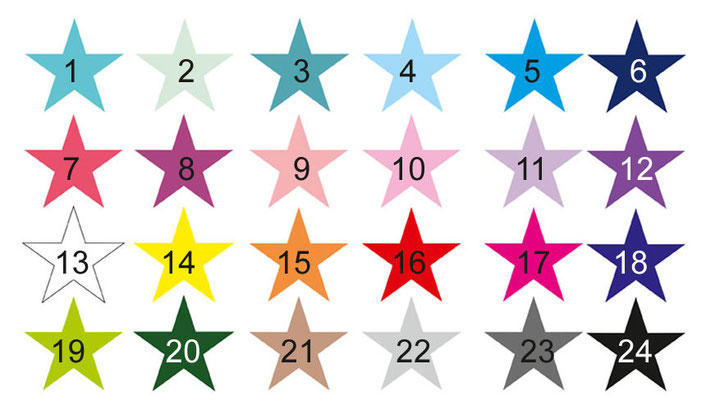 Farbauswahl Türaufkleber: Stern