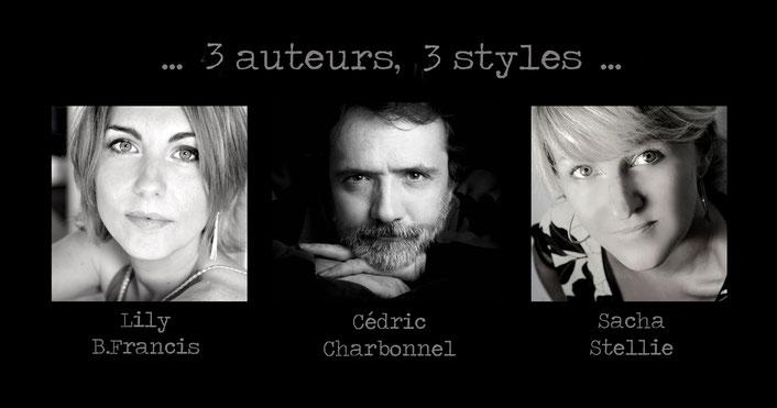 Book Tour ; Lily B.Francis ; Cédric Charbonnel ; Sacha stellie