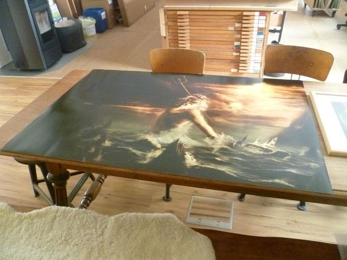 "Poster ""Sea Shepherd"" gerollt."
