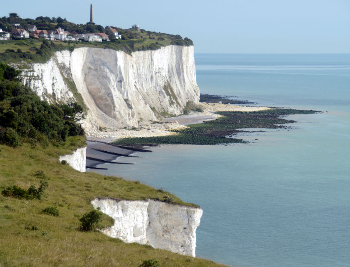 Cliff edges north of Dover at St Margarest's Bay