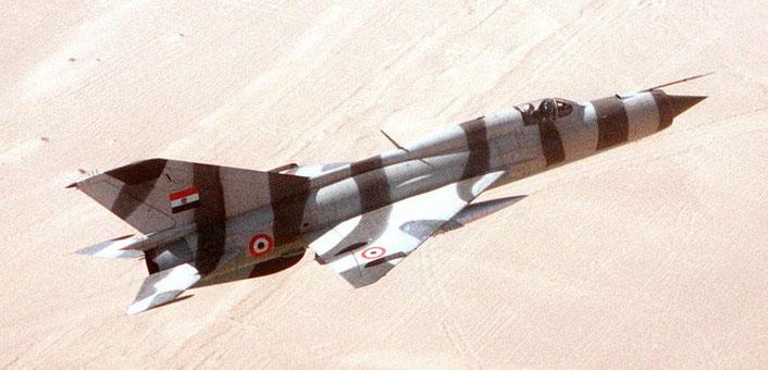 MiG-21 Egiziano durante l'esercitazione Bright Star '82 /  (Foto: USAF)