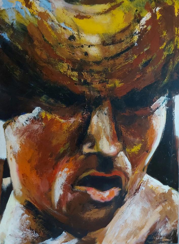 bokser, acryl, 112 x 140 cm