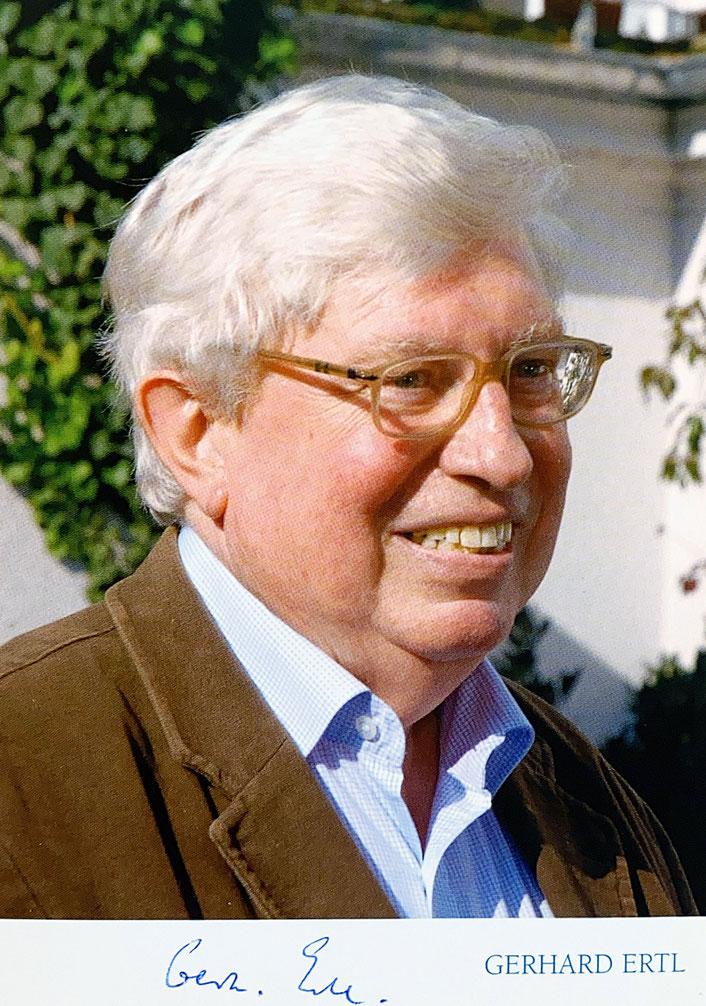 Autograph Gerhard Ertl Autogramm