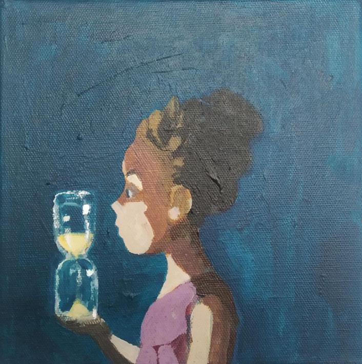 hourglass - Acryl auf Leinwand, 20x20cm,2019 | verkauft