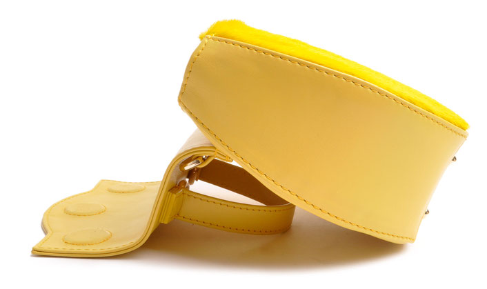 exklusive Trachtentasche aus edlem Leder . Dirndltäschchen in gelb . OSTWALD Traditional Craft