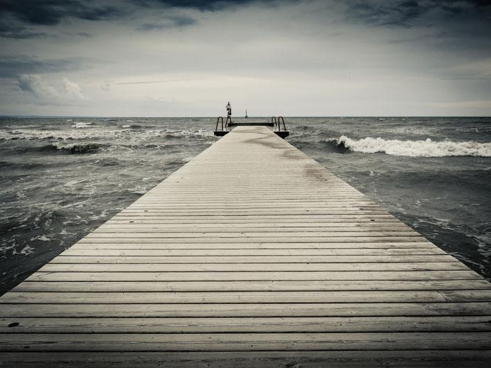 Das Meer von Grado...einmal ein wenig stürmischer...