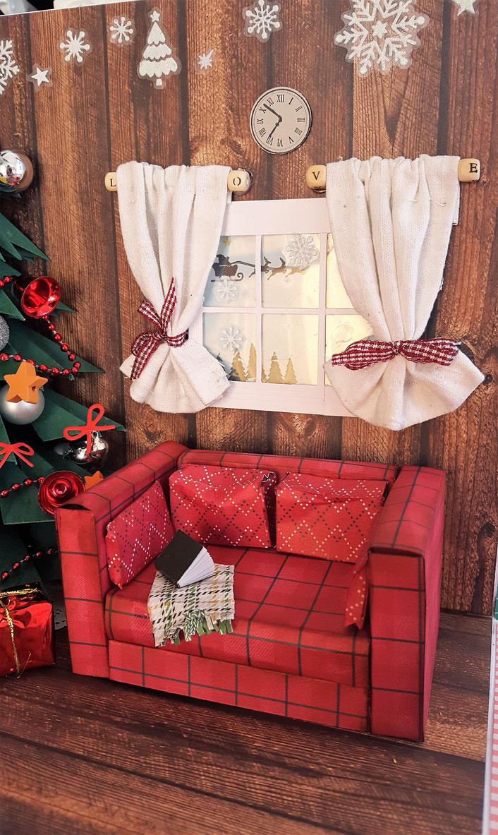 stempelliese.com #Explosionsbox #WEihnachten #Weihnachtsbaum #Holzhütte #Bayrisch #Wohnzimmer