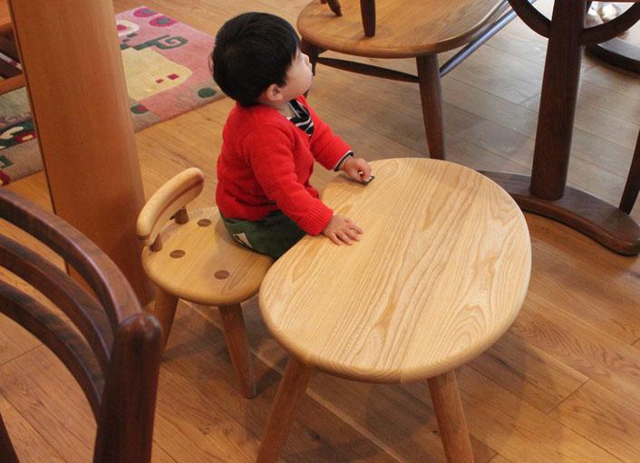 子供のそら豆椅子&テーブル