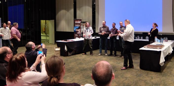 Gewinner im Team Tournament, Norbert Wiebusch, Martin Birkhahn und Maik Stiebler (v.l.n.r.)