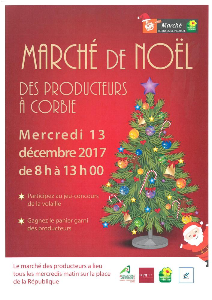 (DR) CASA Chambres d'hôtes Corbie-Marché de Noël des producteurs