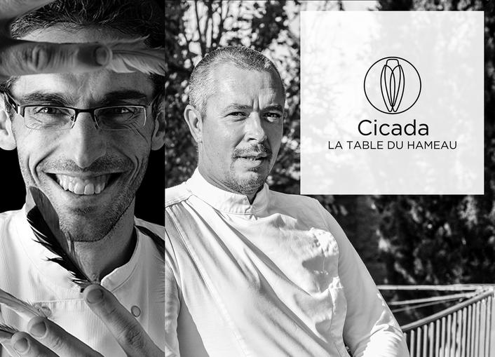 Cuisine à 4 mains à Cicada avec Stephan Paroche et Vincent Lucas à Cicada, la Table du Hameau
