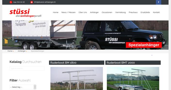 Webseite von Stüssi