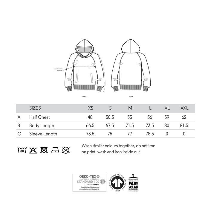 Size Chart T-Shirts fiphie.com