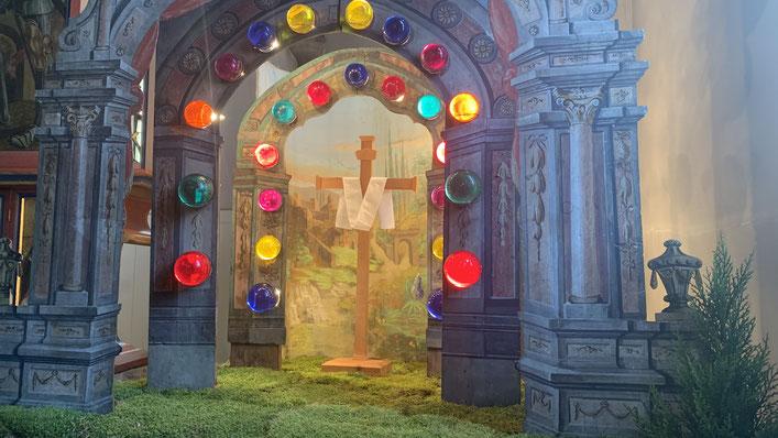 Das Ostergrab in der Pfarrkirche zum Hl. Jakobus d. Ä. in Weißenbach