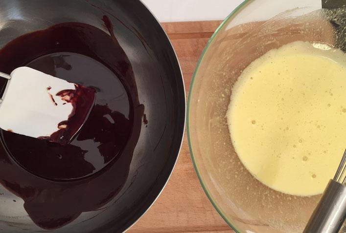 Rezept flüssiger Schokoladenkuchen