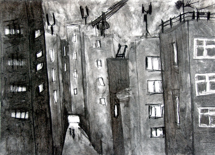New Union Street II 2006 (Charcoal) (28x40) Fergus Murray