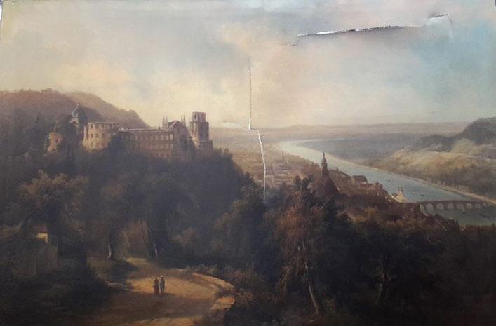 Gemälde mit Rissen in Leinwand restaurieren