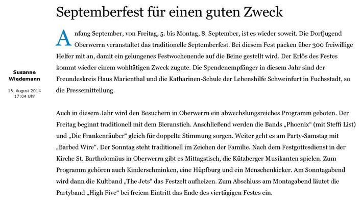18.08.2014 mainpost.de