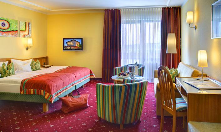 Hotelfotograf Frankfurt, Hotel in Mönchberg, Hotelzimmer, Doppelzimmer, Hotelbett, Bett
