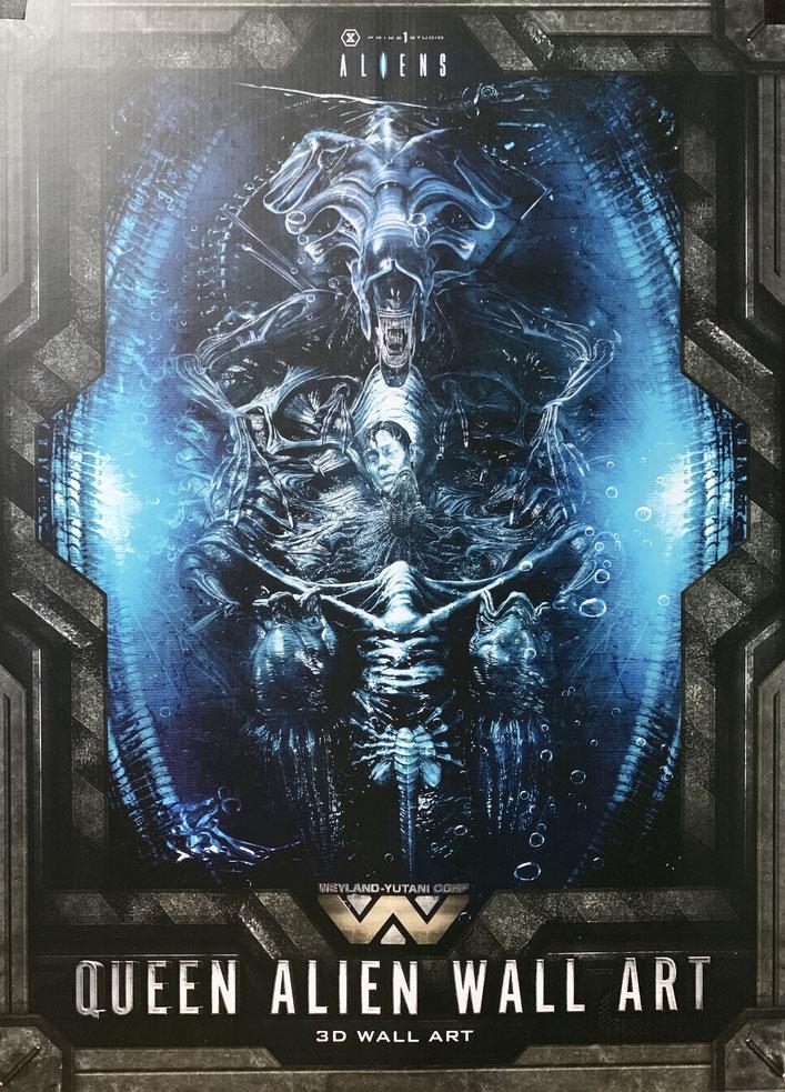 Alien Queen Head Trophy Aliens 3D Wand-Relief 57x33cm Prime 1 Studio