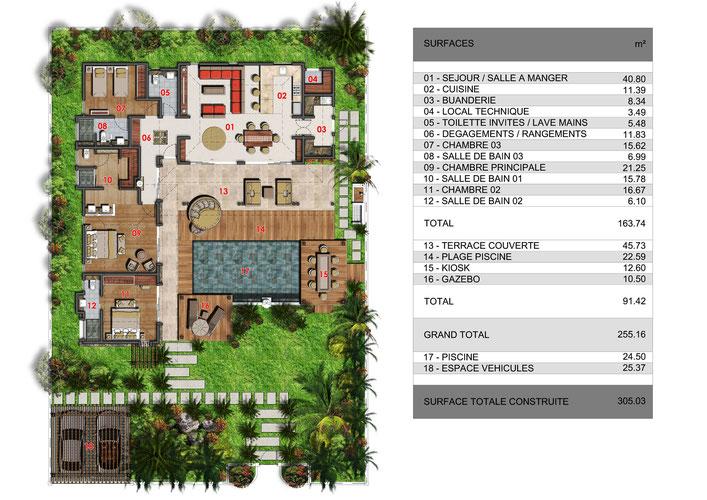 plan de maison ile maurice