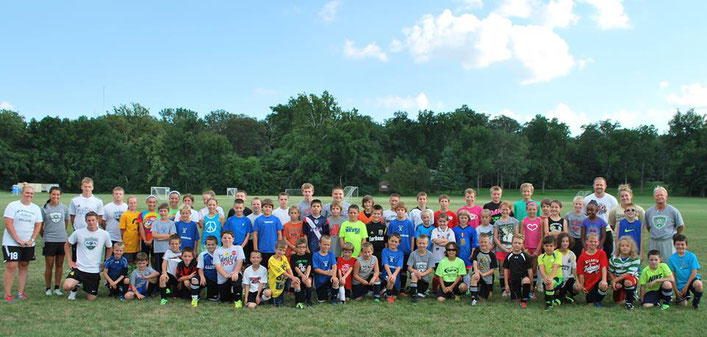 Club X Soccer Players at Spirk Soccer Camp!