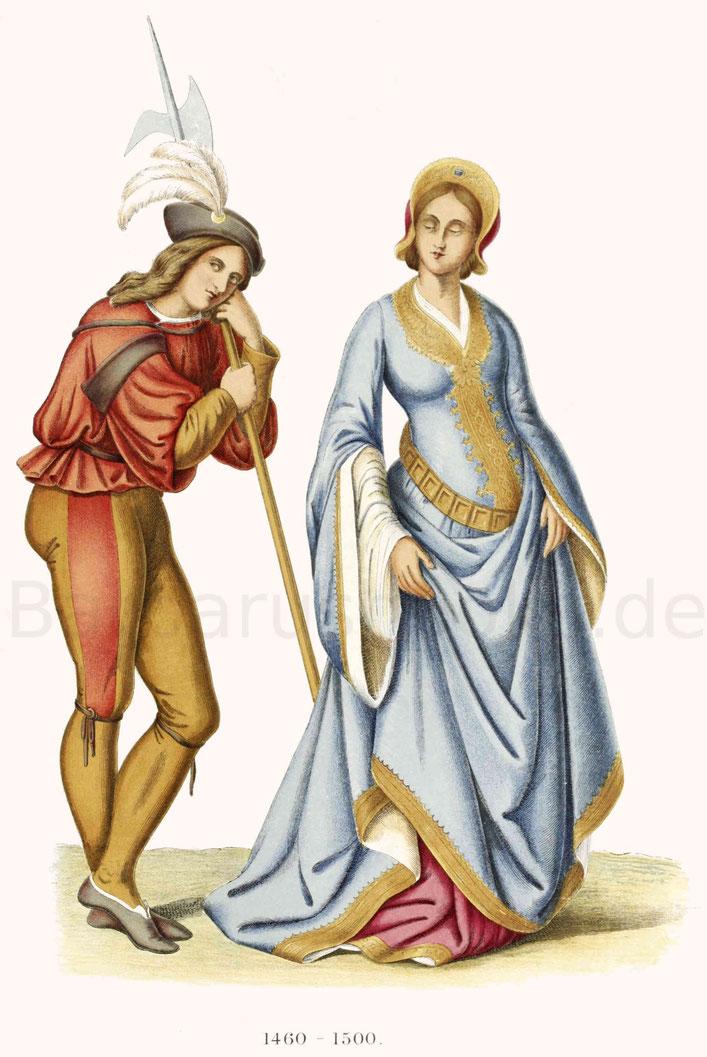 Italienische Dame aus der zweiten Hälfte des 15. Jahrhunderts.
