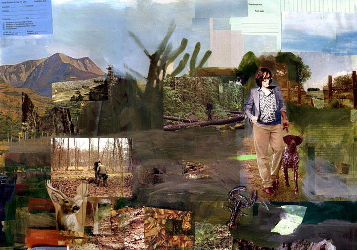 Woods, 40x60cm, 2010, collage