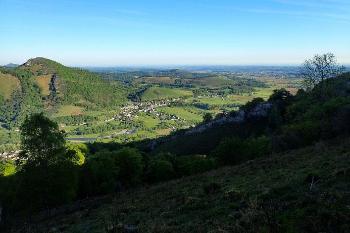 Belle vue sur l'entrée de la Vallé d'Aspe.