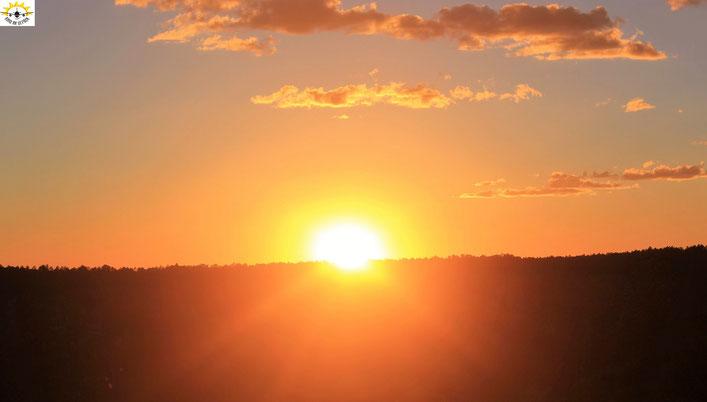 Sonnenuntergang am Grand Canyon North Rim (Bright Angel Trail)