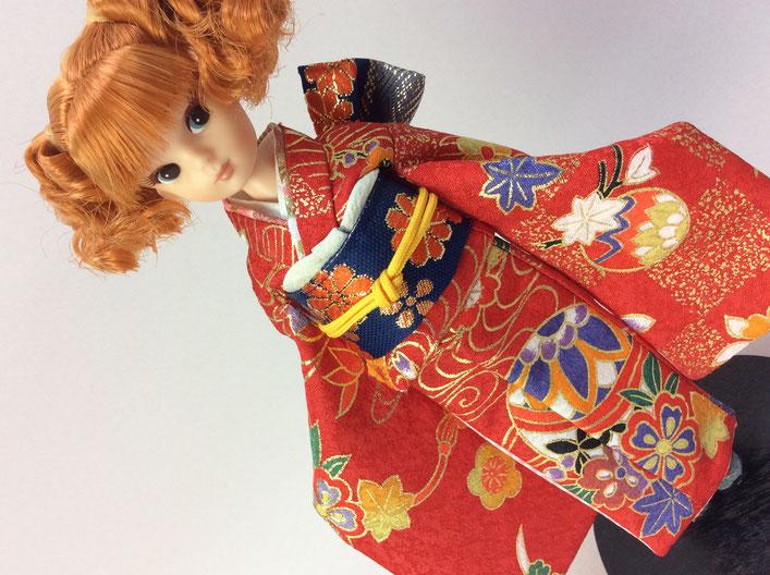 復刻版初代リカちゃん 着物,初代リカ 和服,復刻さん 和装