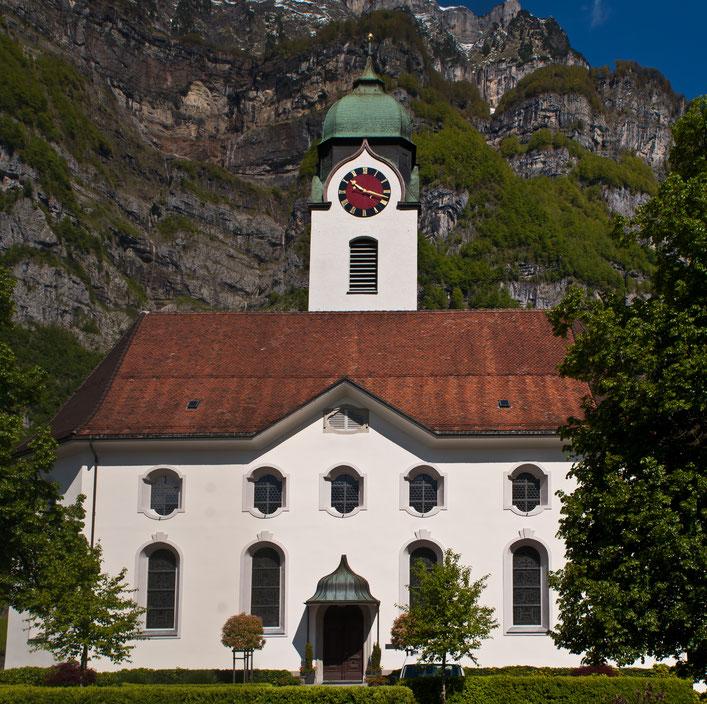 Heutige Evangelisch Reformierte Kirche, erbaut 1811-13, Foto: Kurt Meyer
