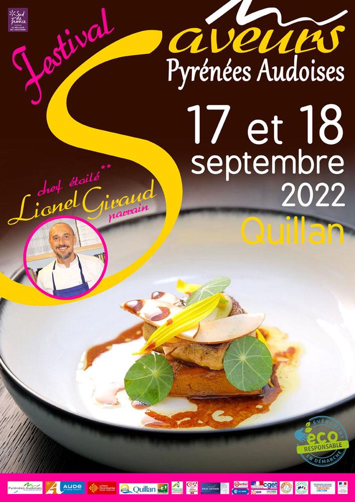 Affiche Festival des Saveurs Pyrénées Audoises 2019