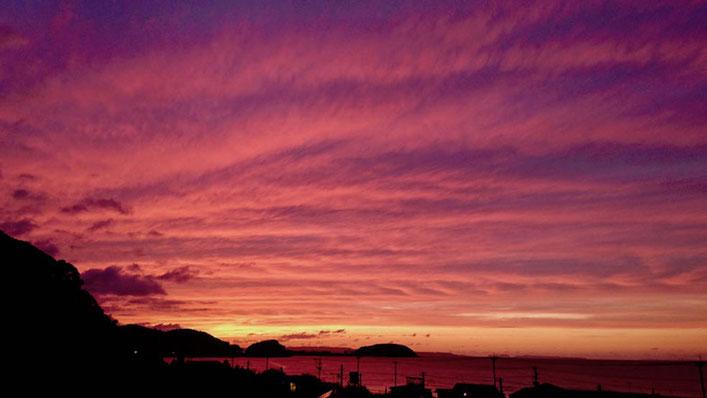 秋の夕日 Sunset in autumn