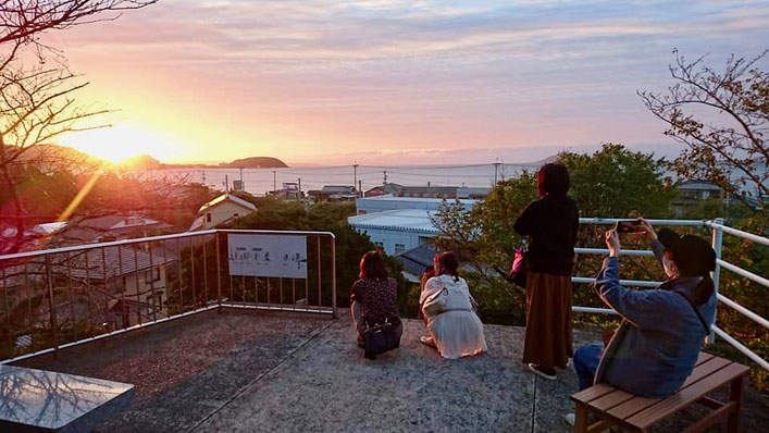 展望台から見た夕日