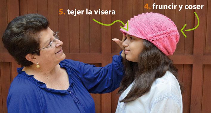Gorro con visera a crochet - Tejiendo Perú 9cb3f2fdf40