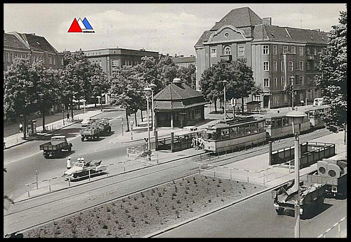 Postkaart Berlin (Offentlicher verkehr bahn, polizei, und wirtschaft transport 1965).