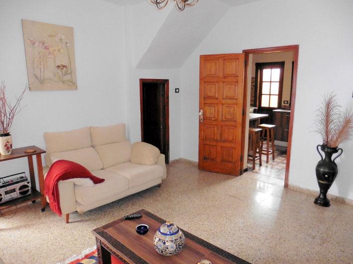 gemütliches Wohnzimmer im kanarischen Stil